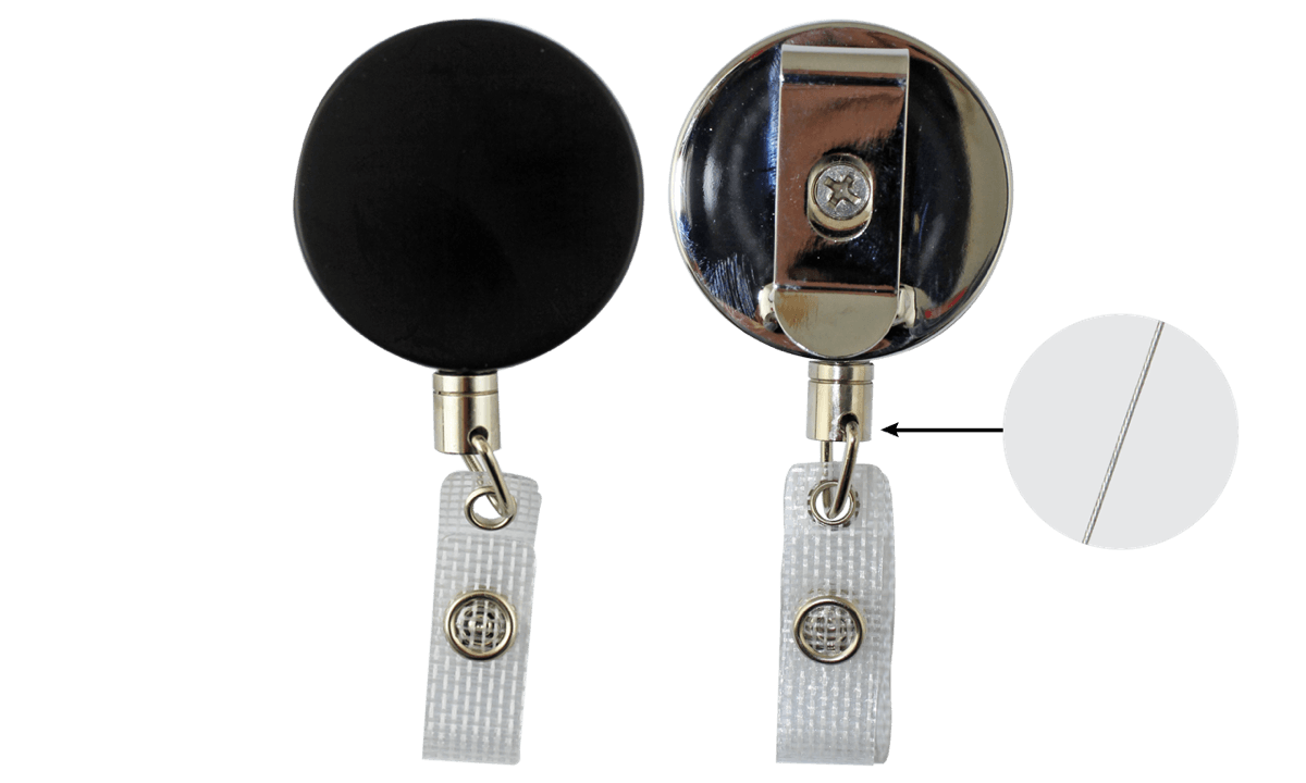 Strong clip heavy duty. Badge reel with steel