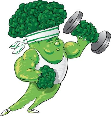 Strong clipart broccoli. View march free nutrition