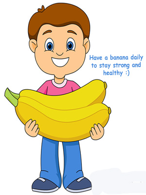 Strong clipart healthy patient. Health benefits of banana