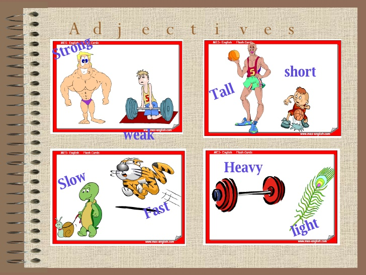 Strong clipart heavy light. Comparative and superlative adjectives