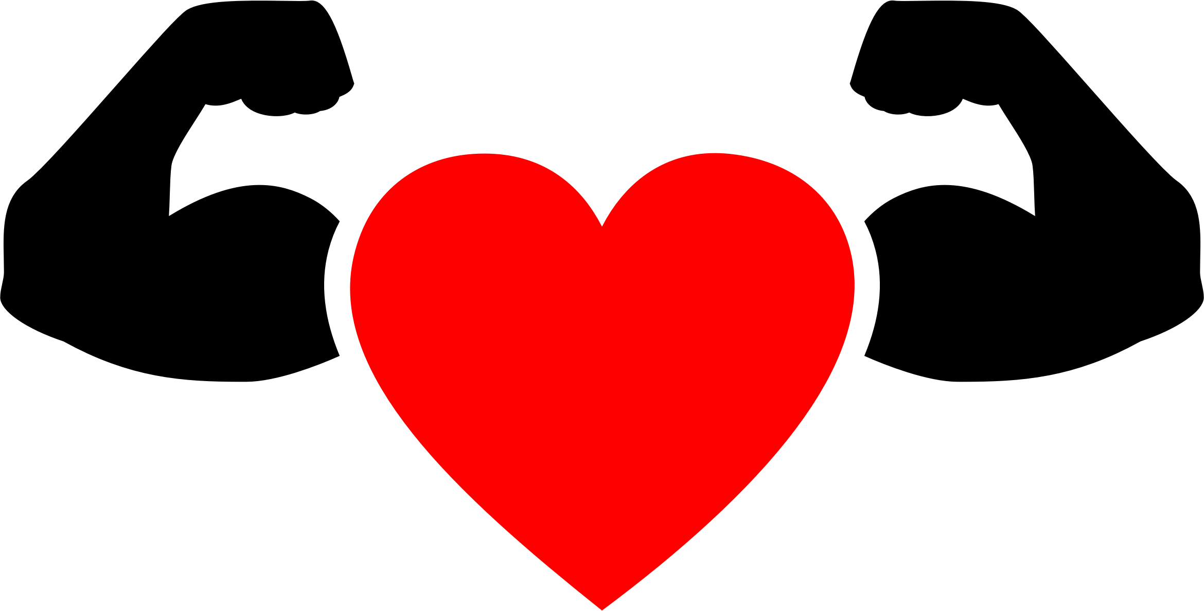 Strong heart png. Clipart muscular icon big