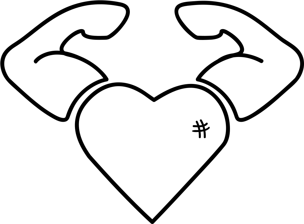 Strong heart png. Svg icon free download