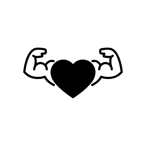 Strong heart png. Image royalty free stock
