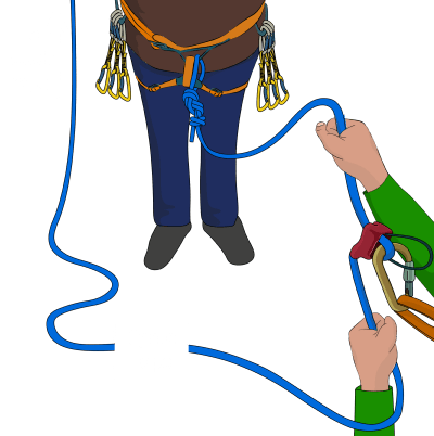 Stuck clip. Dealing with ropes advanced