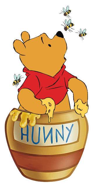 Stuck clip pooh. Bear quotes about honey