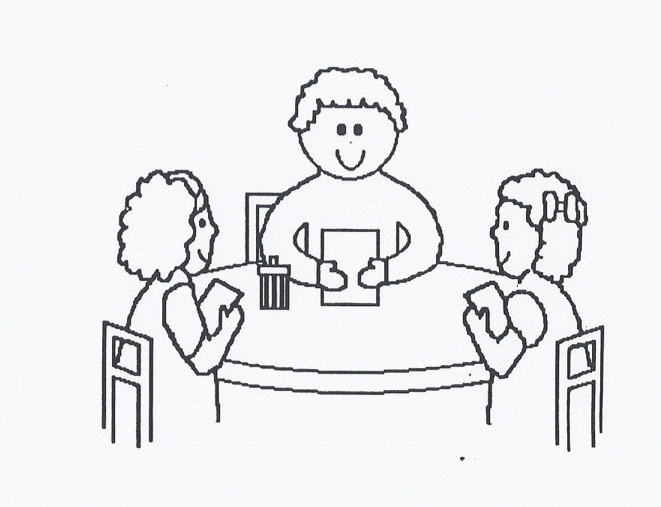 Student clipart small group. Of students black and