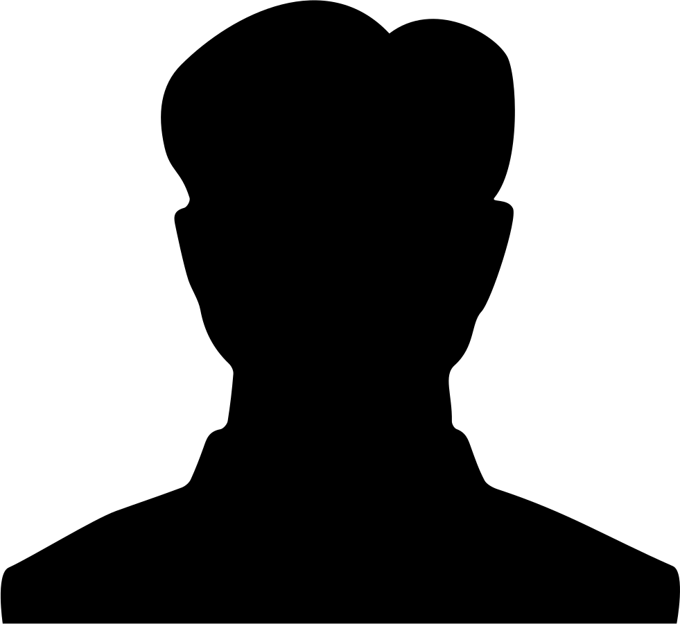 Student silhouette png. Male svg icon free