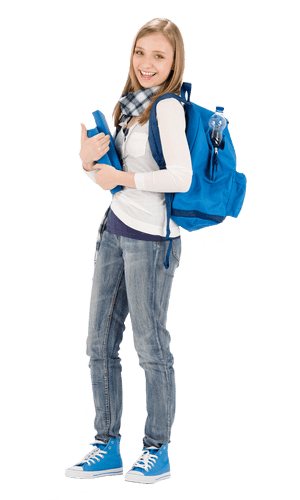Student with backpack png. Study abroad cellular every