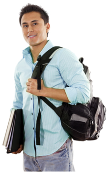 Student with backpack png. Your could be causing