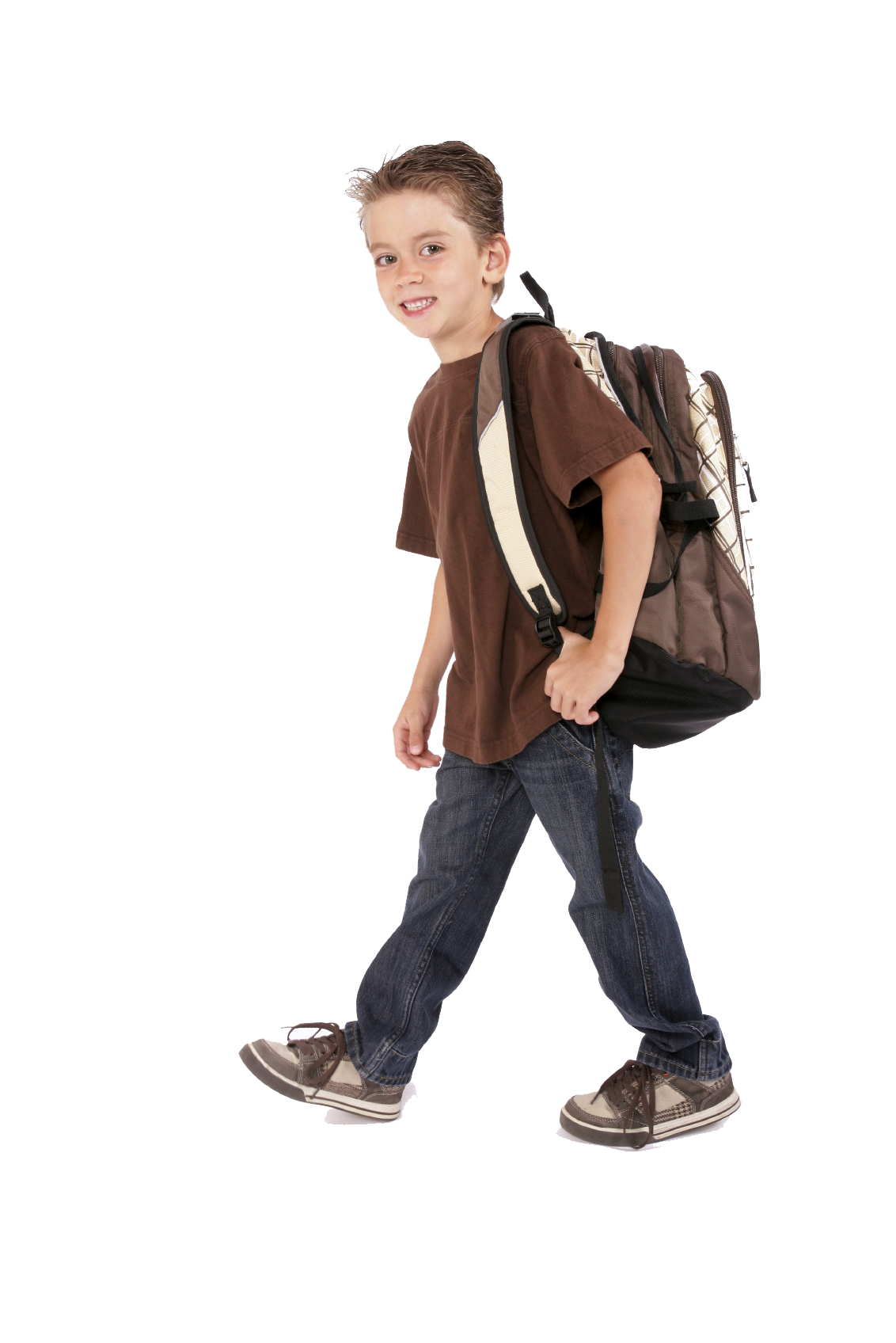 Young boy png. Backpack ged