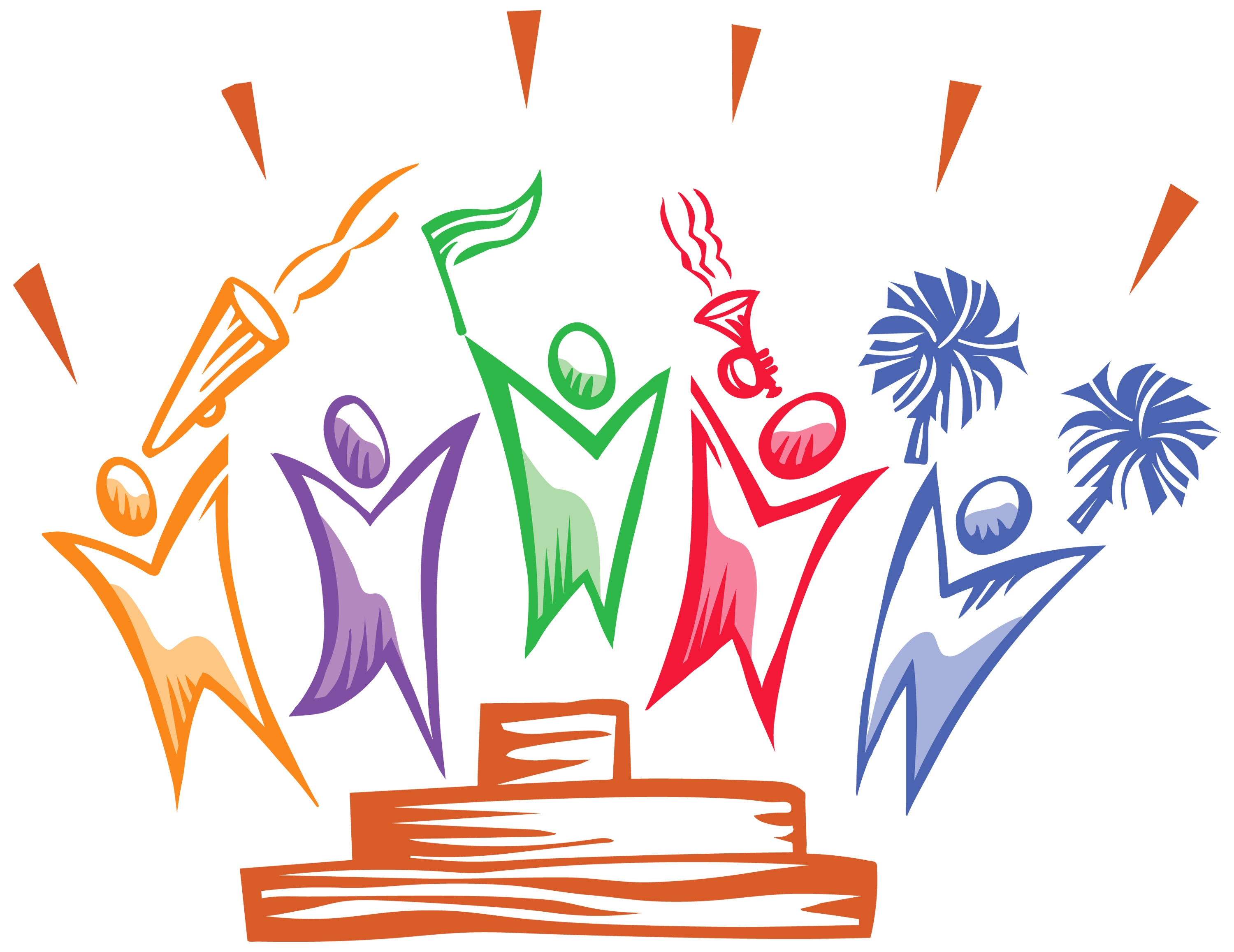 Students clipart celebration. New design digital collection