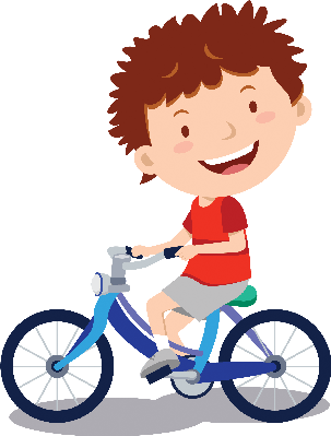 Little boy the arts. Cycling clipart banner black and white library