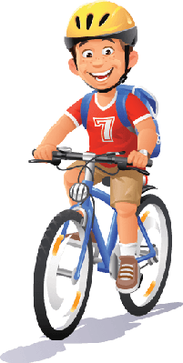 Students clipart cycling. Bikes and bicycles boy