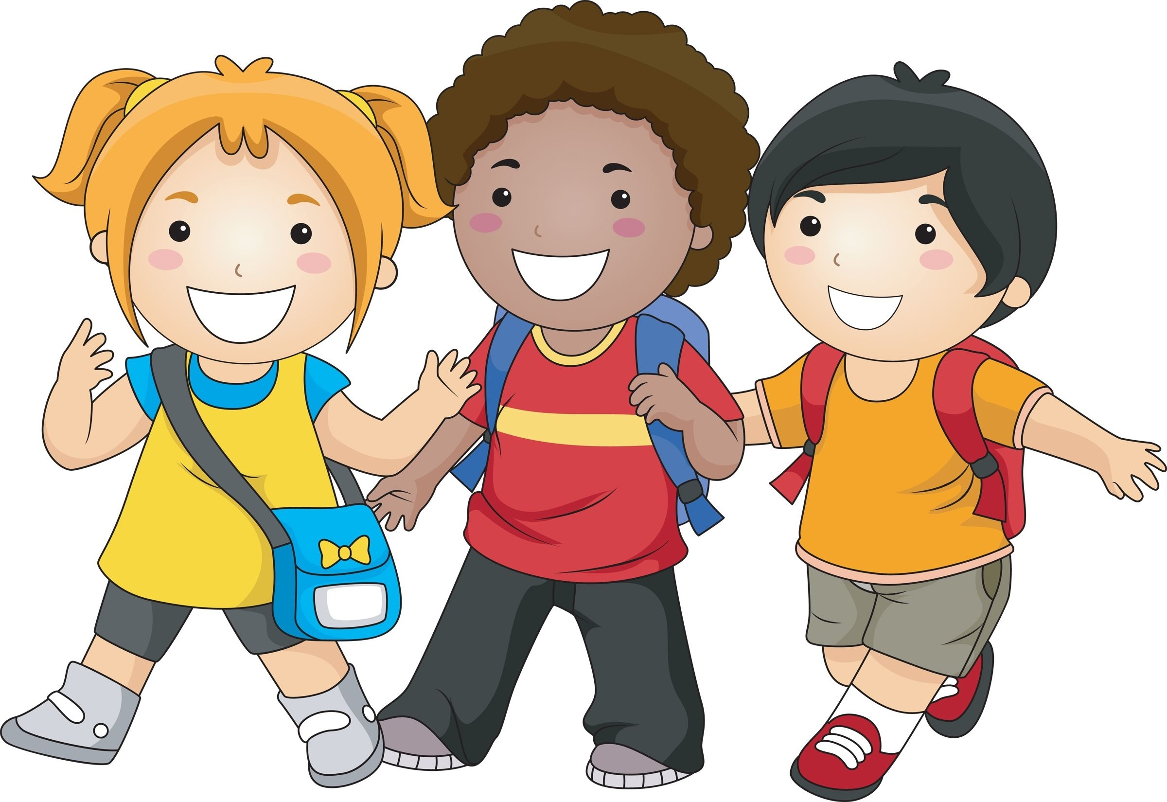 Students clipart walking. Writings and essays kids