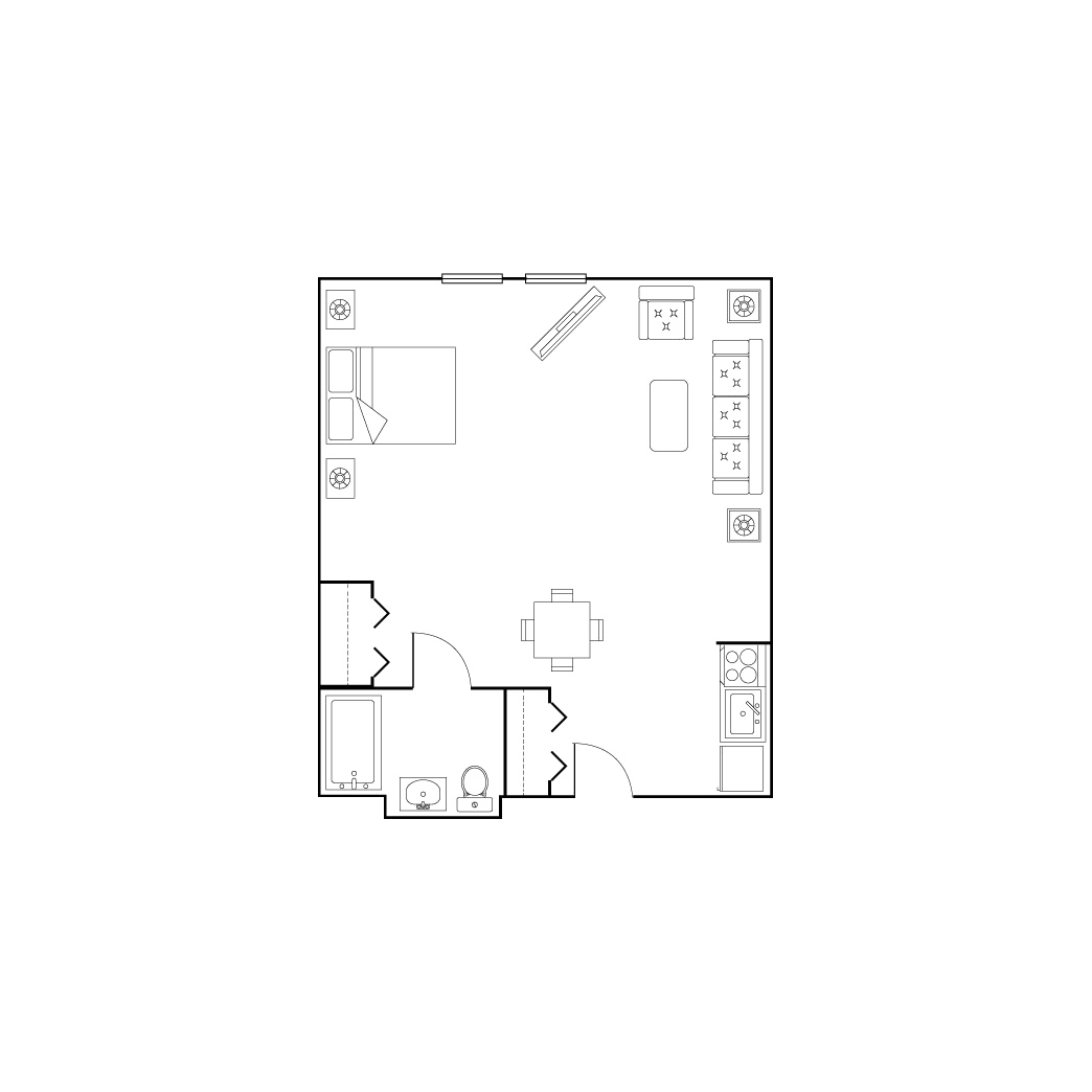 Studio drawing large. Living options parkrose estates