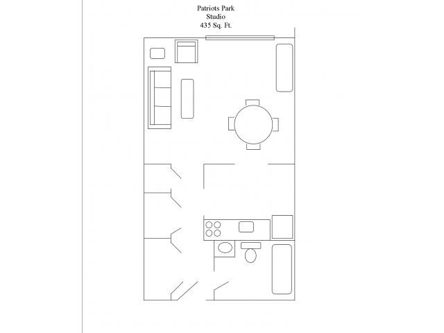 Studio drawing large. Bath apartment in portsmouth