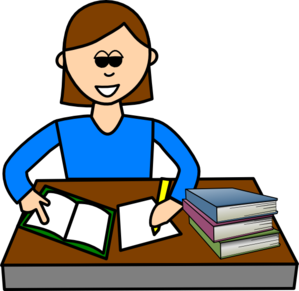 Studying clipart ladies. Girl pupil clip art