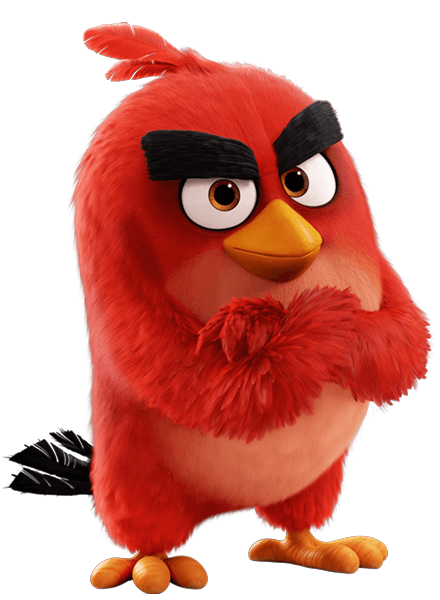 Angry birds red png. From the movie character
