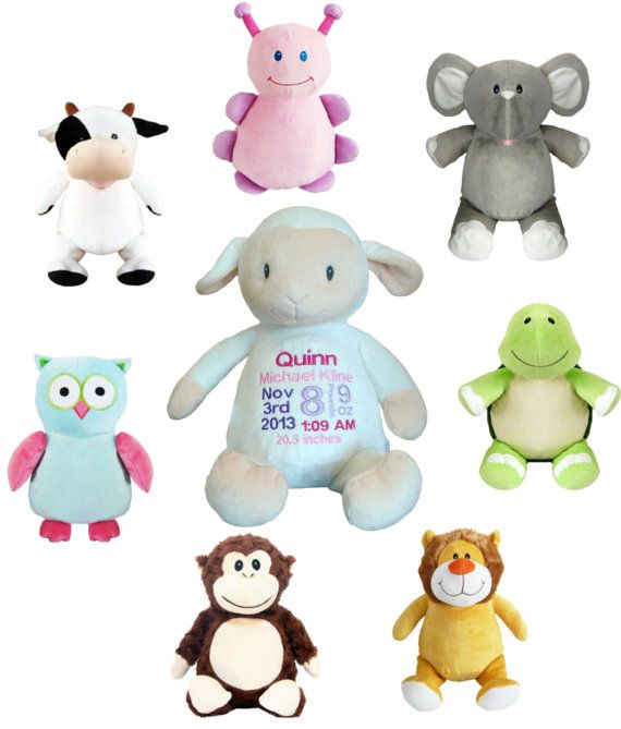 Stuffed clipart square. Personalized animals with baby