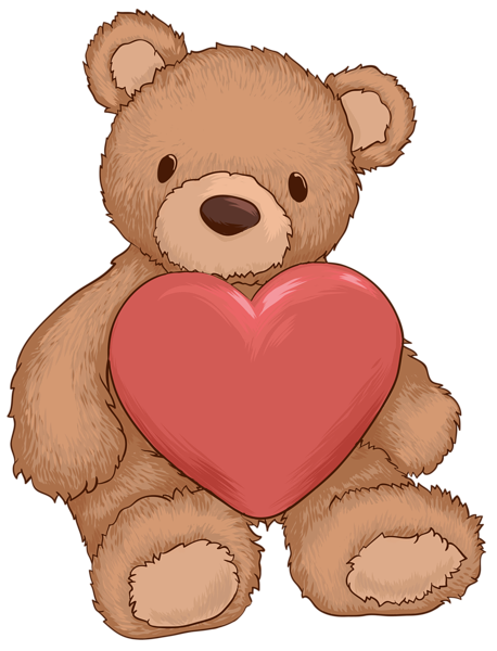 Stuffed clipart transparent background. Teddy bear with heart