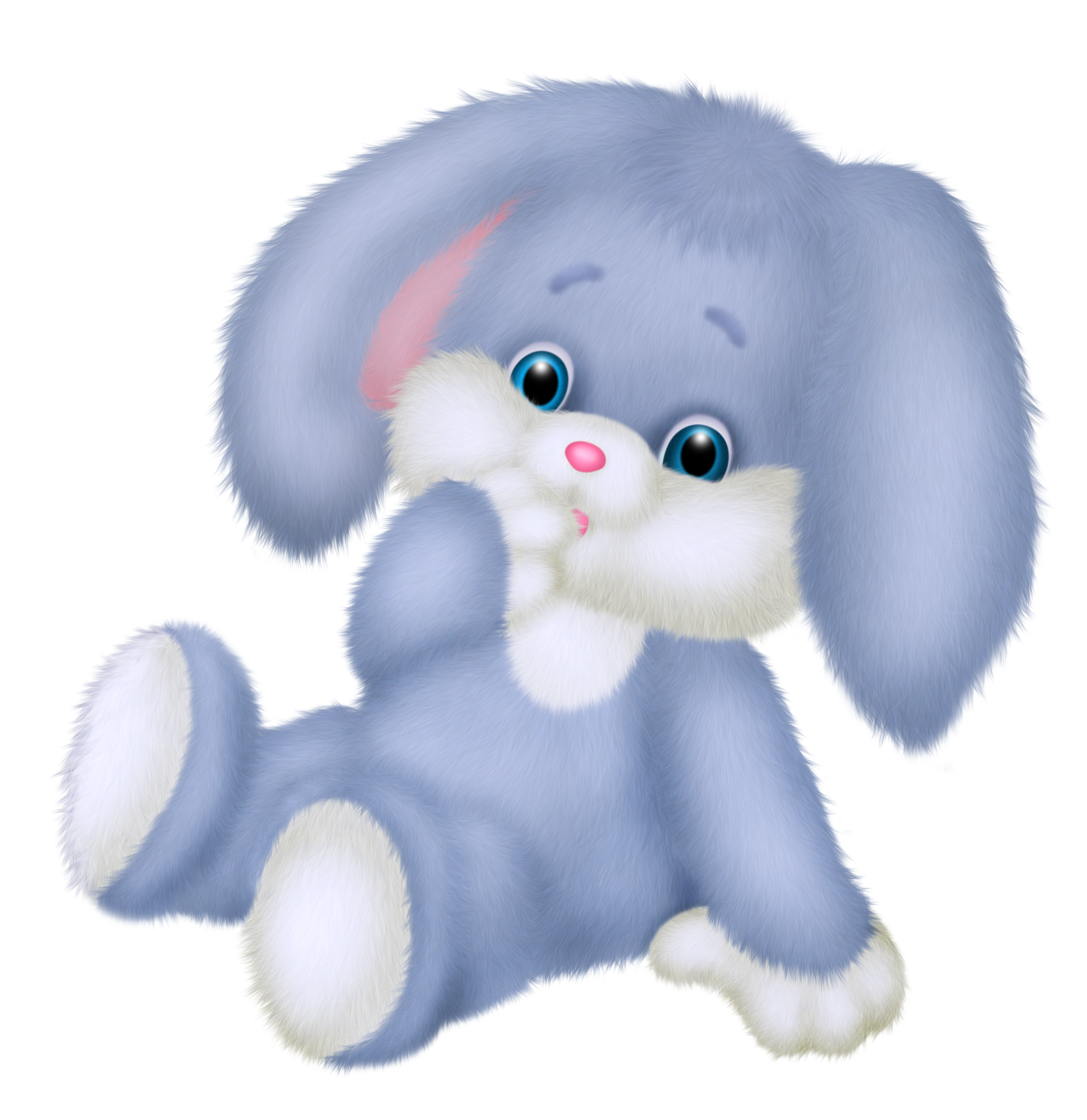 Stuffed clipart transparent background. Cute blue bunny png