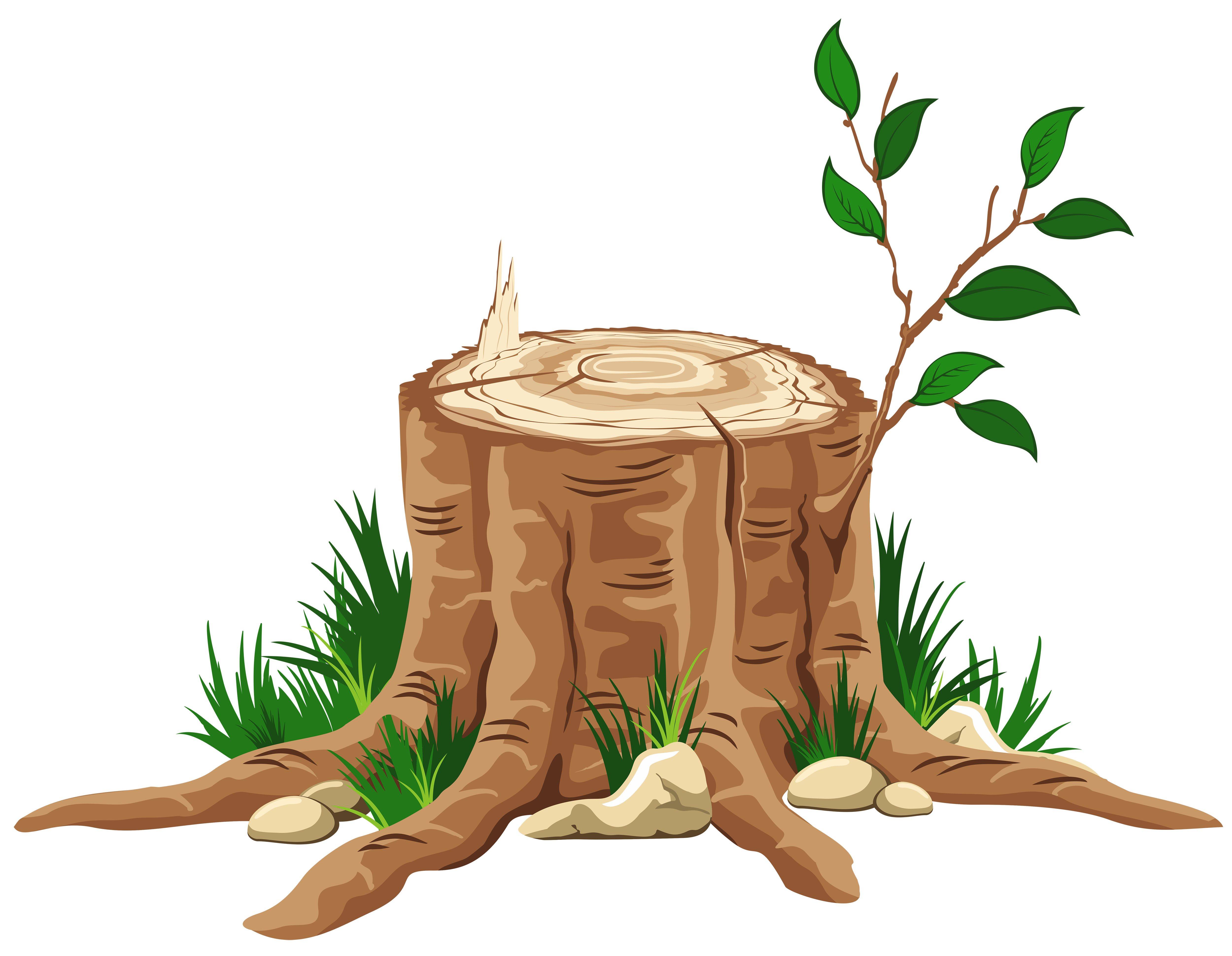stump clipart tree cutter