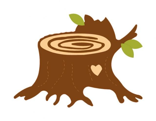 Stump clipart stamp. Tree silhouette at getdrawings