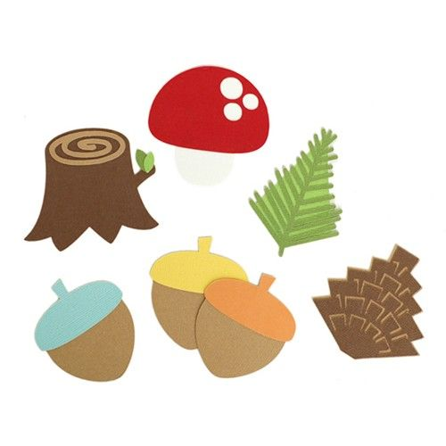 Stump clipart woodland tree stump. Party pack pinecone and