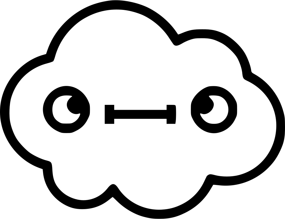 Stupid drawing cloud. Weird svg png icon