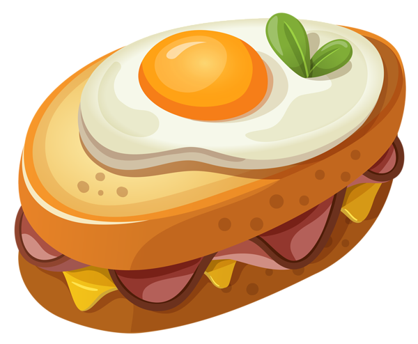 Recipe vector food illustration. Sandwich with egg png