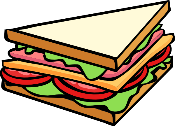 Sub vector sandwich. Half clip art at