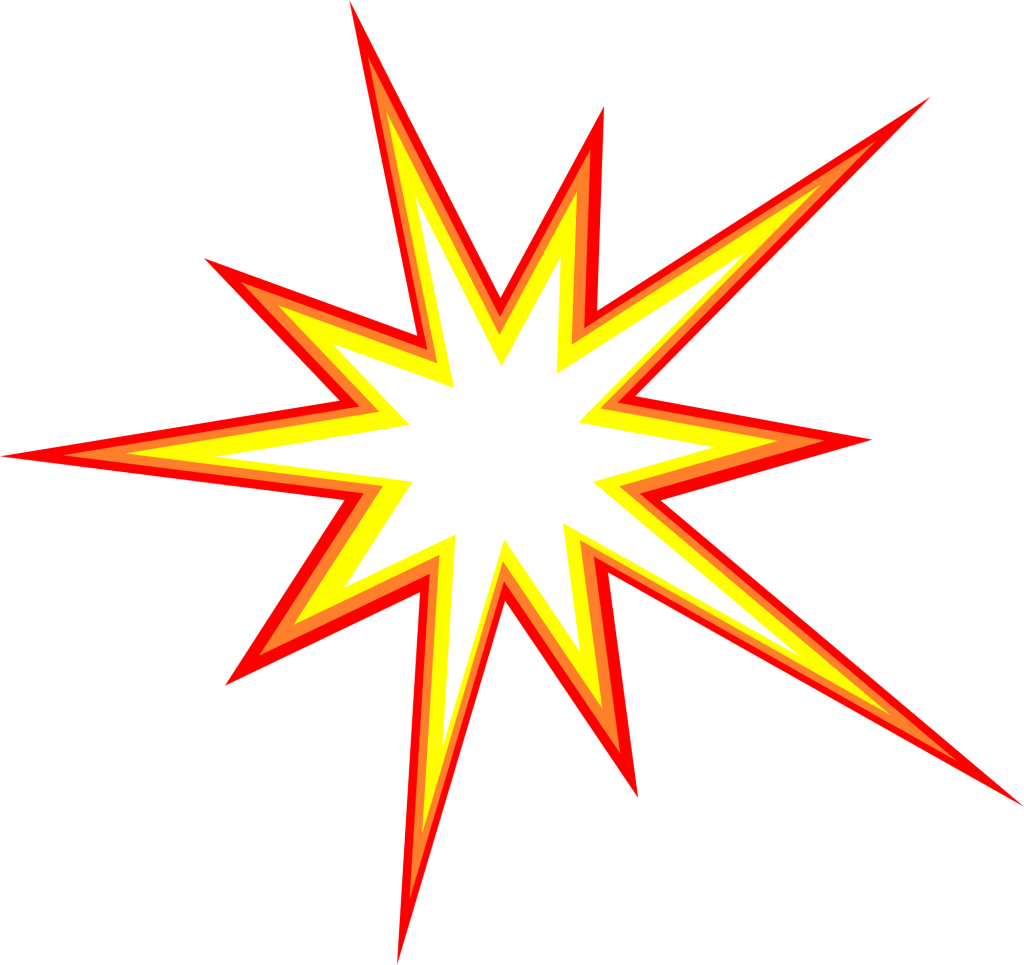 Sub vector transparent. Starburst explosion comic