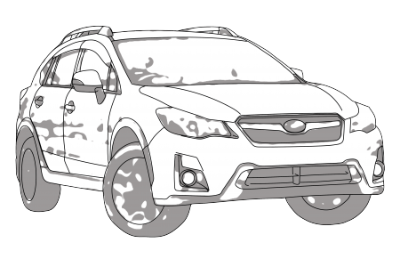 subaru drawing suv