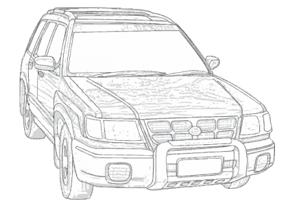 Subaru drawing wagon. Forester sf aerpro