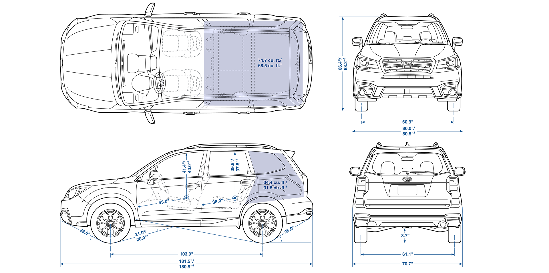 Forester gas tank size. Subaru drawing sketch transparent stock