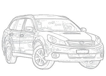 Subaru drawing wagon. Outback aerpro
