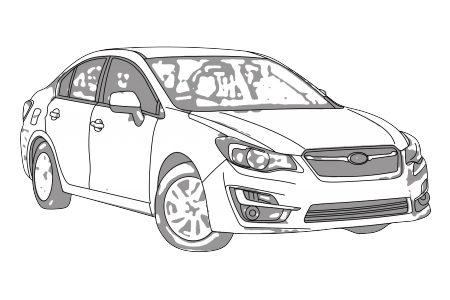 Subaru drawing wagon. Impreza gp gj aerpro
