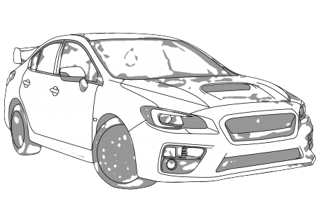 Subaru drawing wrx sti. My aerpro