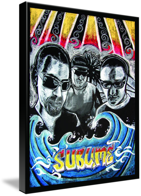 Sublime drawing band. Poster by gilly brennan