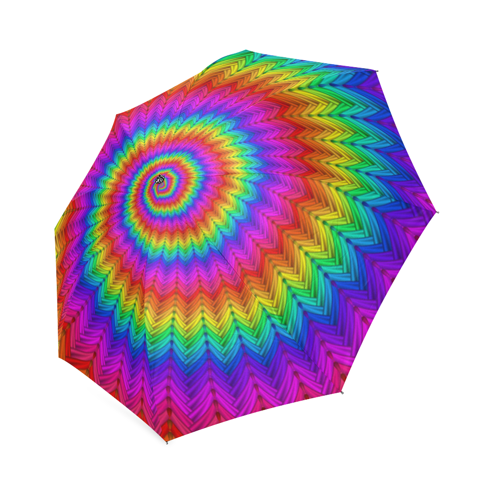 Sublime drawing tie dye. Psychedelic rainbow spiral foldable