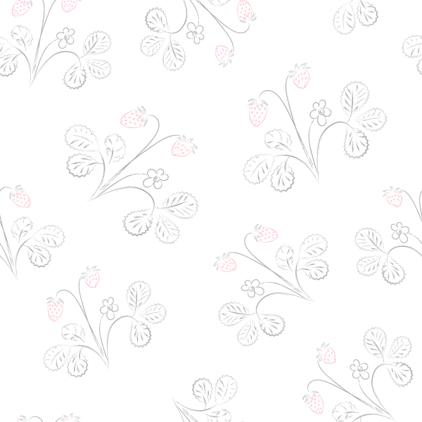 Subtle seamless pattern with strawberries.