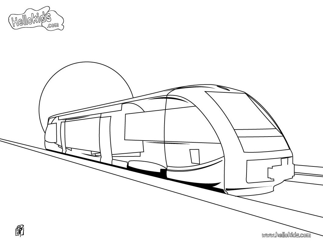 Subway clipart colouring page. Coloring pages getcoloringpages com