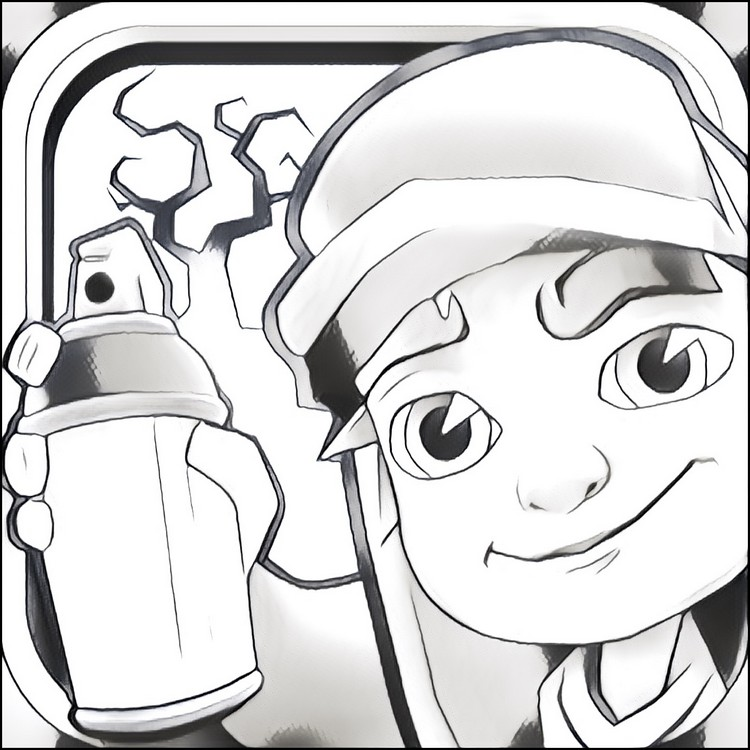 Subway clipart colouring page. Surfers coloring pages genkilife