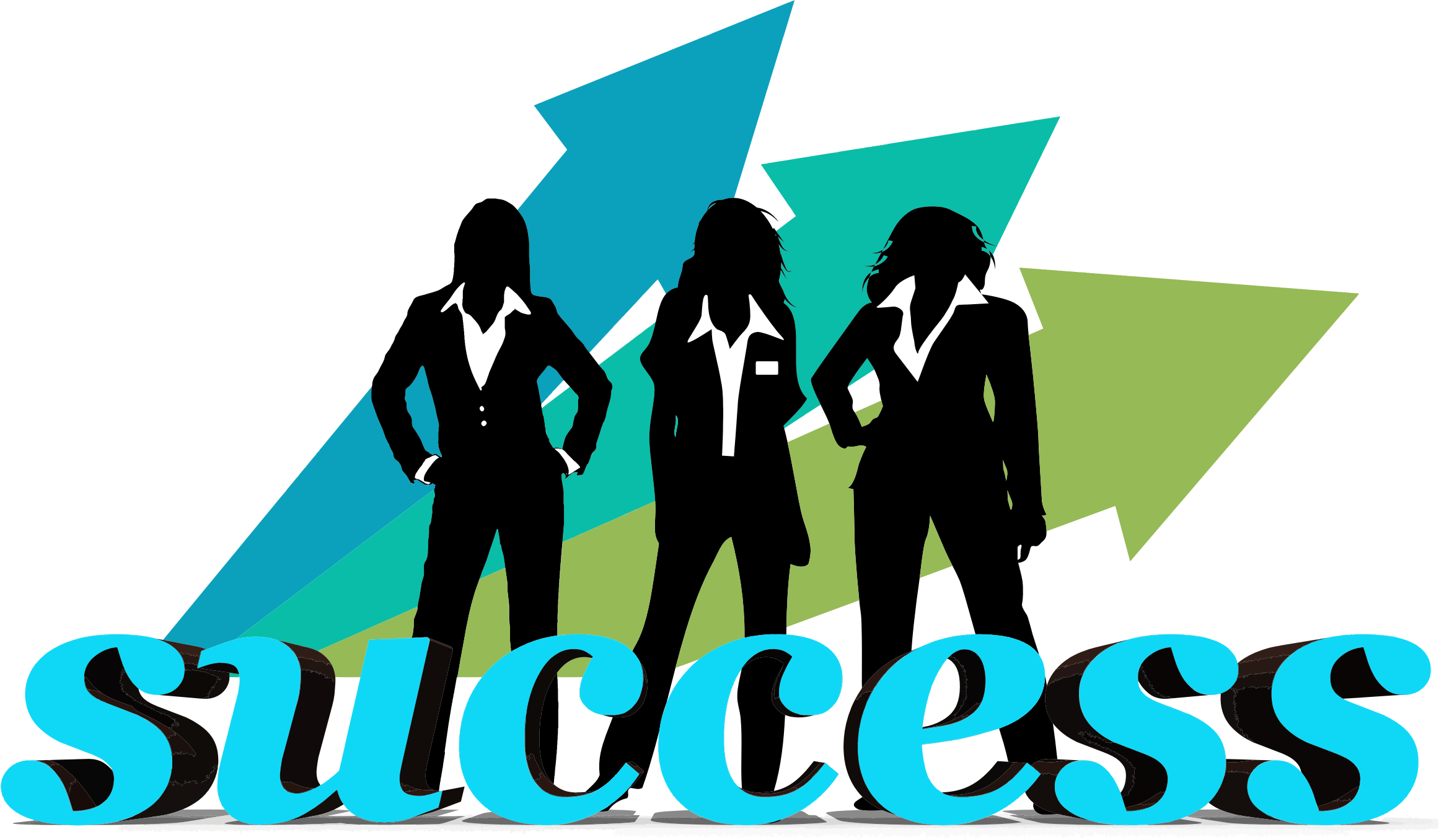 Success transparent business. Collection of clipart
