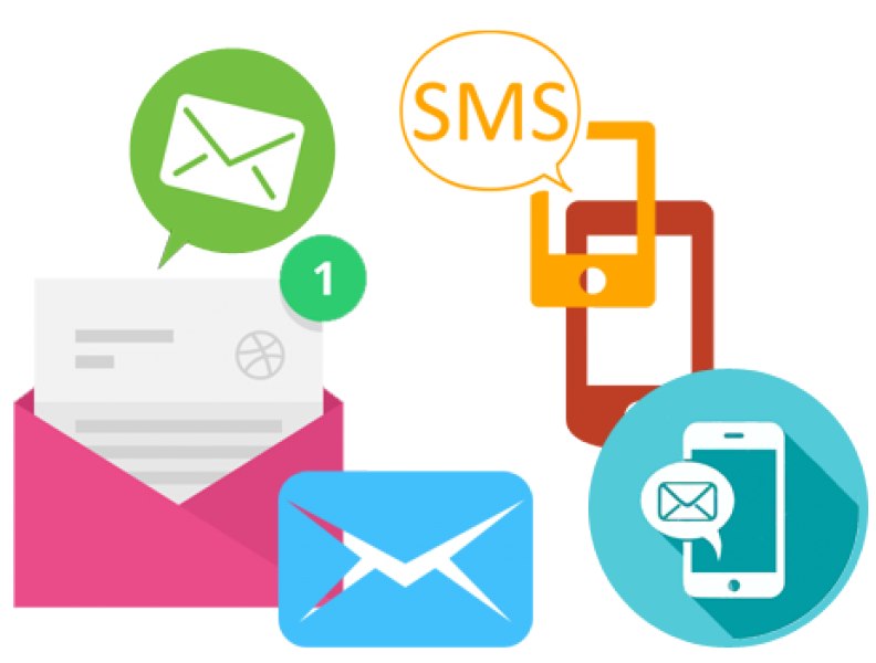 Success transparent campaign. Integrated sms and email