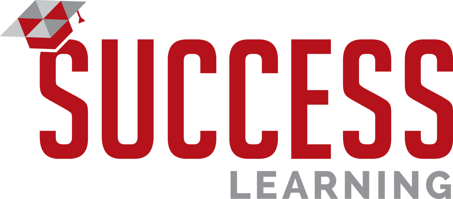 Success transparent red. Learning management