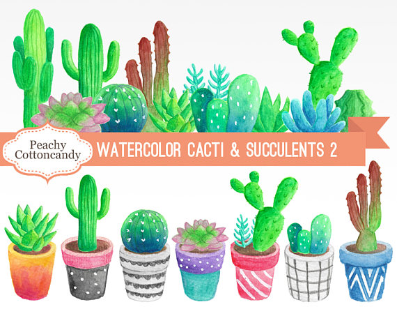 Succulent clipart christmas. Buy get free watercolor