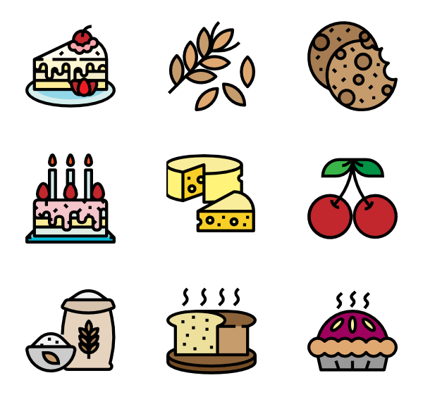 Vector wheat single. Sugar icons free bakery