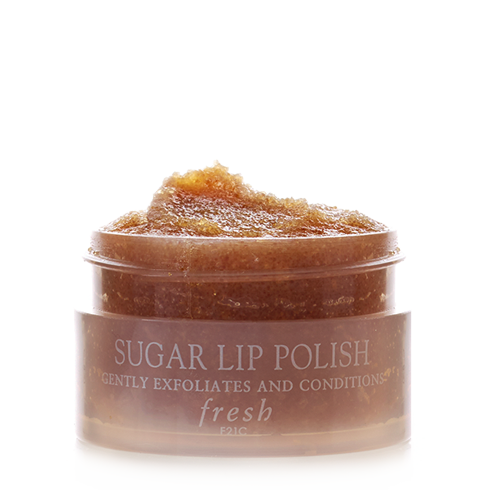 Fresh lip exfoliator polish. Sugar vector brown banner library library