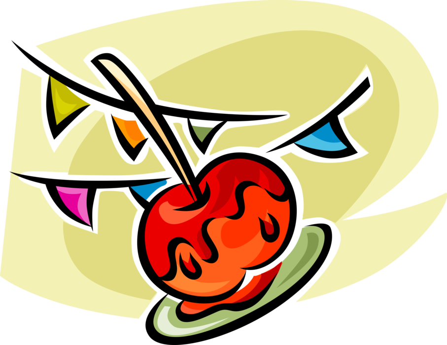Sugar vector candy. Apple or toffee image